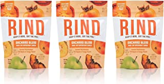 RIND Snacks Orchard Blend Dried Fruit Superfood, Sweet Persimmon, Tart Apple, Tangy Peach, High Fiber, Vegan, Paleo, Whole...