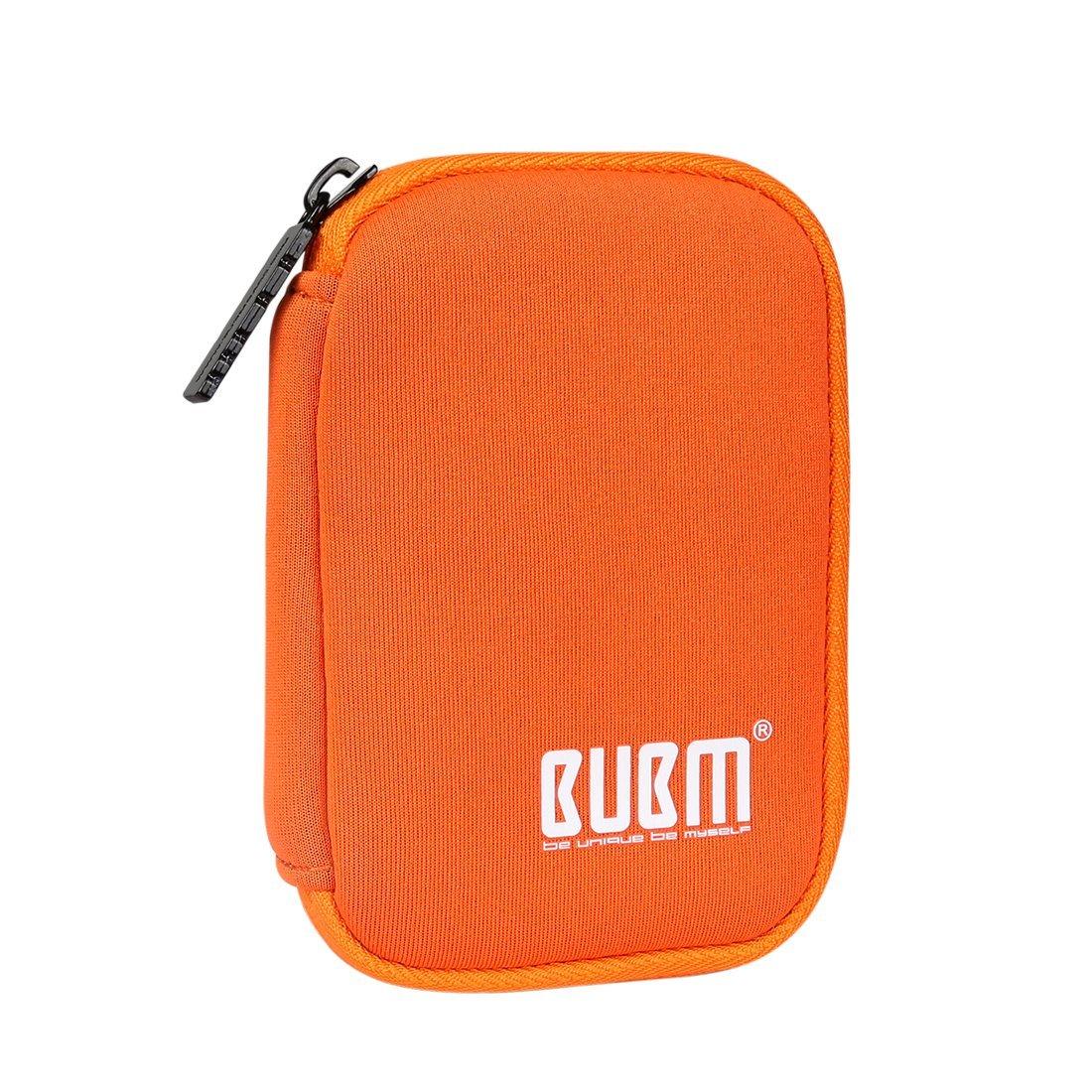 BUBM Estuche Mini para Ordenar USB Funda Suave para Proteger USB Perfectamente, Tamaño adecuerdo para llevar 6 Gomas Elásticas para Ajuestar USB, Naranja: Amazon.es: Electrónica