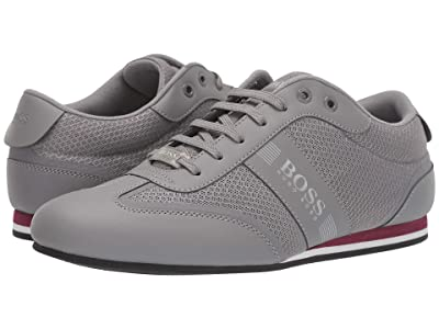 BOSS Hugo Boss Lighter Low Mesh Sneaker by BOSS Green (Medium Grey) Men