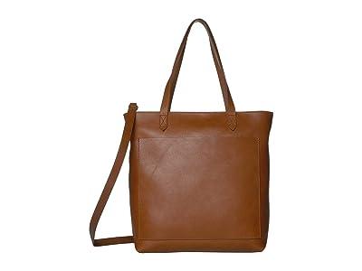 Madewell The Medium Transport Tote w/ Inset Zipper (English Saddle) Handbags