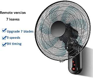 YYYUE Hogar Remoto montado en la Pared de Control del Ventilador, Velocidades de Viento 220V9, 60W Motor, sincronización de diseño, 8M Control Remoto, Dormitorio Dormitorio,7 Blades