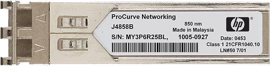 HP J4858C X121 1Gb SFP SX Transceiver - Small Form-factor Pluggable (SFP) Gigabit SX transceiver that provides a full-duplex Gigabit solution up to 550m (1804ft) on multimode fiber - Has one LC 1000BASE-SX port