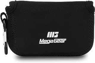 MegaGear ''Ultra Light'' Neoprene Camera Case Bag with Carabiner for Panasonic Lumix DC-ZS80, DC-ZS70, DMC-ZS100, DC-TZ95, DC-TZ90, DMC-TZ100 (Black)