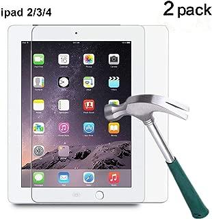 TANTEK YYY12 HD Clear, Anti Scratch, Anti-Glare, Anti-Fingerprint, Tempered Glass Screen Protector for IPad 2/IPad 3/IPad 4, 2 Piece