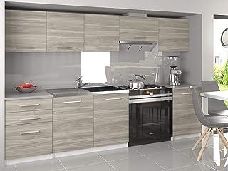 Muebles Cocina Completa,240 cms, Modulos de cocinas ref-06 (