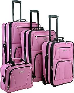 Luggage Skate Wheels 4 Piece Luggage Set, Pink, One Size
