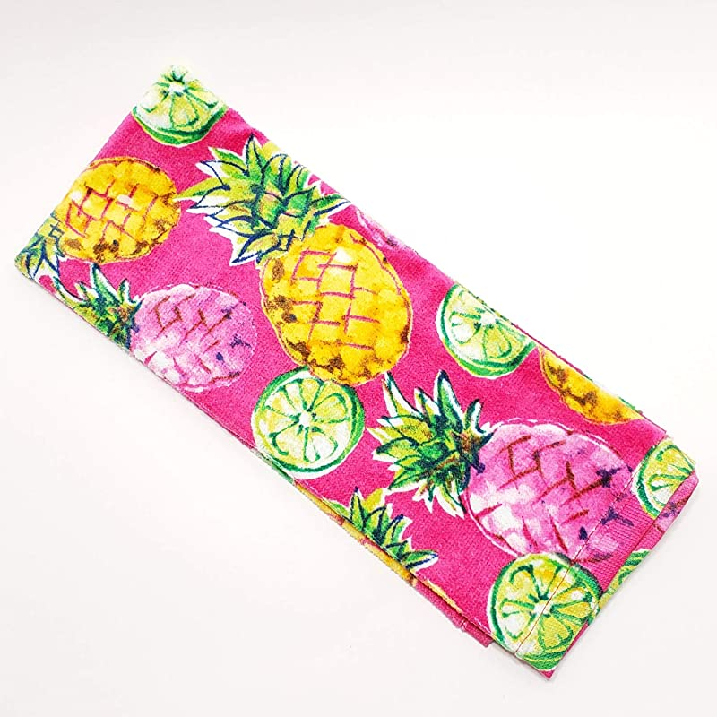 Hawaiian Tropical Pineapple Print Kitchen Towel Dish Towel Hand Towel Stove Top Towel And Barbeque Towel By Mainstays
