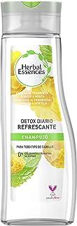 Herbal Essences Detox Diario Refrescante Champú para todo tipo de Cabello con Frambuesa Dorada y Menta Inspirado en la Na...