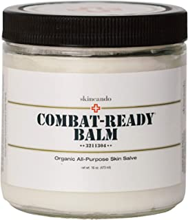 Combat Ready Skin Balm 8oz by Skincando – All Natural - Intensive Moisturizer – Skin Cream - Organic ingredients – Apricot Kernel Oil – Grapefruit Seed Extract – Black Spruce - Black tea Moisturizer