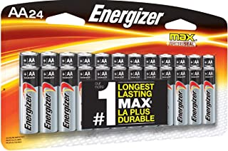 Energizer AA Batteries (24 Count), Double A Max Alkaline Battery – Packaging May Vary