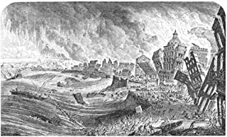 Portugal Earthquake 1755 Nthe Great Earthquake At Lisbon Portugal 1 November 1755 Contemporary Engraving Poster Print by (18 x 24)