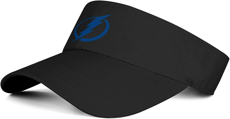 Non-Clip Sweatband Sun Visors Tennis Cap Ice-Hockey-Logo Adjustable Daily Sports Hat for Women /& Men