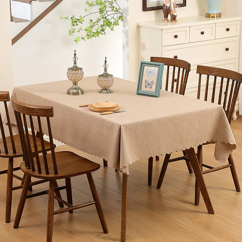 BZ-ZXS Tischdecken Wasserdicht öLfreie Schmutzabweisend Tischtuch Einfarbig Minimalistischen Kaffee Tisch Verkleidung,braun,65  65CM B07Q6NNLXZ Sonderkauf     Authentisch