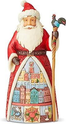 Enesco 6004235 Jim Shore Heartwood Creek Santa's Around The World Portuguese Figurine, 7.1 Inch, Multicolor