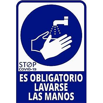 Pegatina Es obligatorio lavarse las manos, Prevención