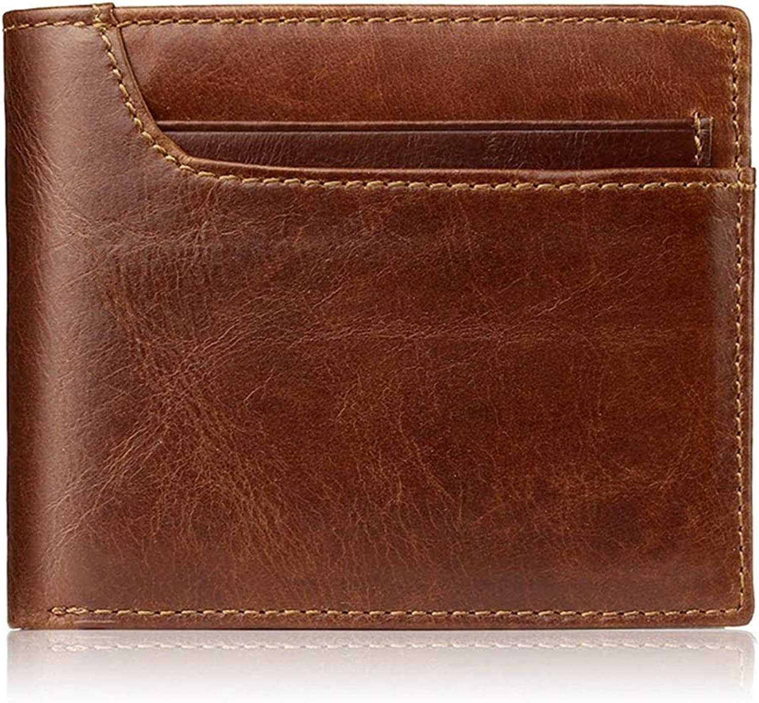 Hyue Leather Abbreviated Paragraph Both Men And Women Wallet Card Bag Portable Ultralight Minimalism (color   Photo color)