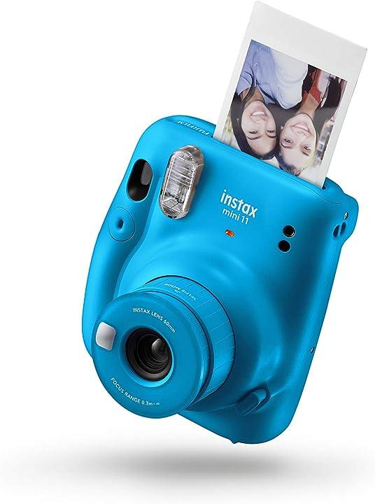 Fotocamera instax fujifilm fotocamera istantanea mini 11 senza custodia colore capri blue B08GFFW8Y7