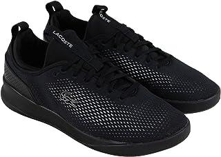 Lacoste Lt Spirit 2.0 318 2 SPM Mens Black Textile Sneakers Shoes 10