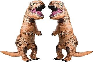 RUBIE`S COSTUME COMPANY Jurasic World T-Rex Adult Inflatable Costume 2 Pack Bundle Set