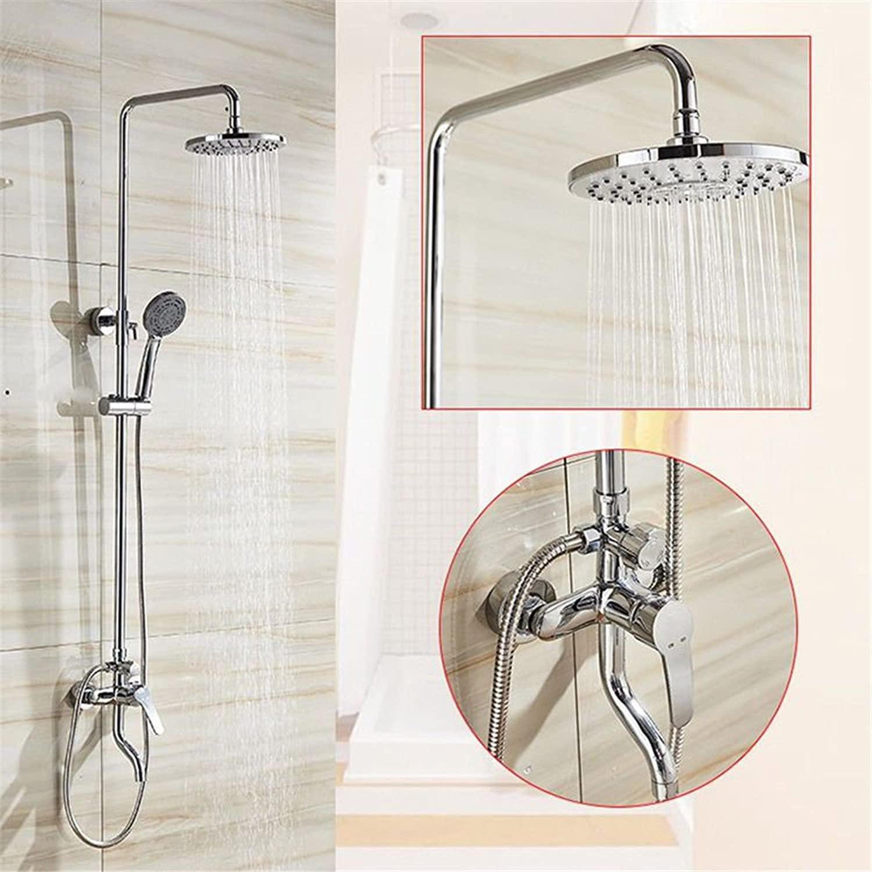Bijjaladeva Antique Bathroom Rain Mixer Shower tap Set Rainfall Shower faucet system copper shower faucet shower shower kit wall mounted lift shower + handheld shower faucet shower system kit
