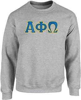Alpha Phi Omega Twill Letter Crewneck Sweatshirt