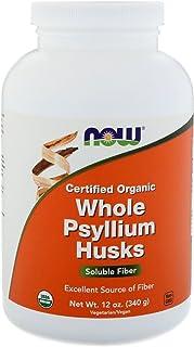 Certified Organic Whole Psyllium Husks - 12 oz (340 Grams) by NOW