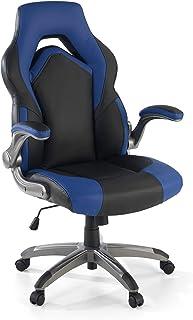 OFICHAIRS | Silla AK-Omega | Silla Gaming | Silla de Escritorio | Silla Gamer Profesional | Brazos Abatibles y Ajustables | Mecanismo de Inclinación | Color Azul & Negro