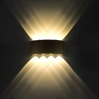 Lampe Murale LED 8W Moderne Appliques Murales IP65 Étanche Applique Luminaire En Aluminium Up Down Décoratif Spot Lumière ...