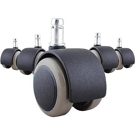 ウレタンキャスター OAオフィスチェア用ホイール 5個セット 変換ゴムキャスター ホイール差込式 360度回転 取替えキャスター 差込式キャスター 静音 傷つけにくい 適応穴直径11mm