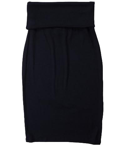 LAmade Triny 2x1 Modal Stretch Rib Skirt (Black) Women