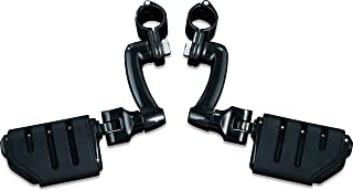 Kuryakyn 7599 Motorcycle Foot Controls: Longhorn Offset Trident Dually Highway Pegs with Magnum Quick Clamps for 1-1/4