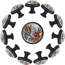 Retro Bloemen met Stippen Achtergrond, Knoppen voor Dressoir Laden Kristallen Glazen Kabinet Handvat Hardware voor Home Of...