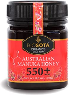 BIOSOTA Organic Manuka Honey MGO 550+ - Premium Grade Manuka Honey from Australia | Australian Certified Organic Honey NPA...