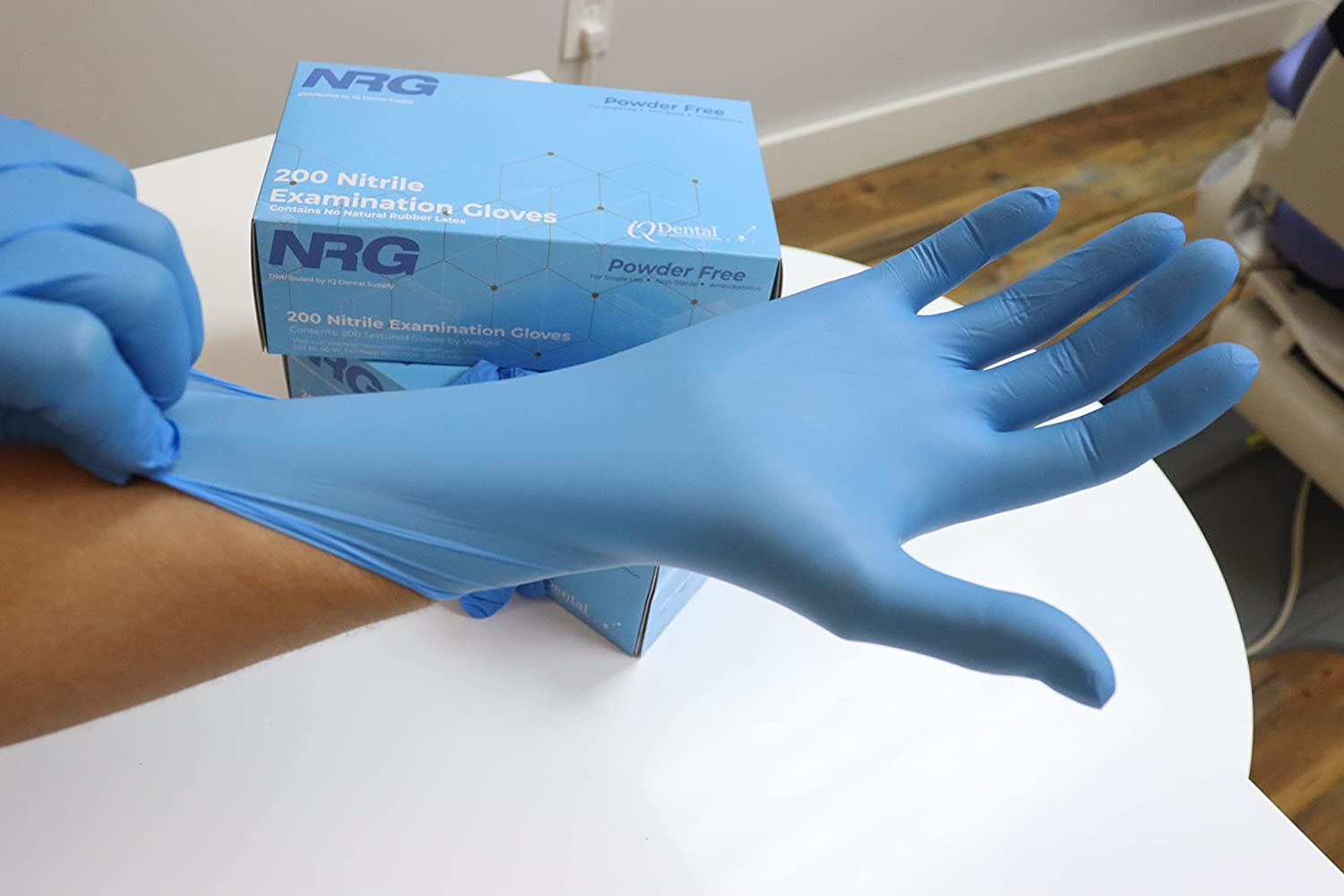 Large special price NRG Nitrile Powder Free Examination Gloves Grade Clearance SALE! Limited time! Medical Blue Me