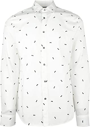 Michael Kors Camisa de manga larga con estampado de gafas de ...