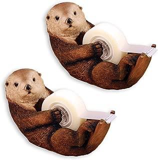 Johnson Smith Co. (Set/2) Otter Tape Dispenser - Animal Office Desk Accessory - Standard Roll