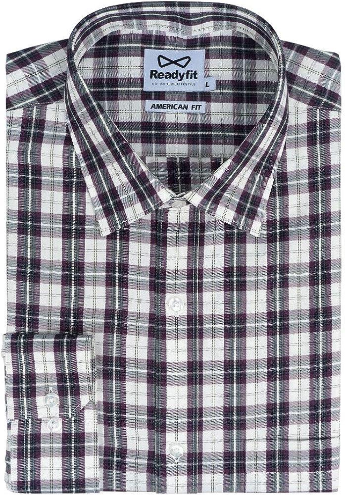 Readyfit Men's Long-Sleeves Check Dress Shirts