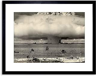 The Art Stop Vintage Photo Atomic Bomb Mushroom Cloud Bikini Framed Print F97X7646