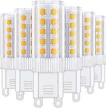 G9 LED ضوء لمبة 4W 450LM 360 شعاع زاوية يستبدل 40W مصابيح الهالوجين الدافئة الابيض 3000K Lightbulb للالثريات، الطابق مصباح