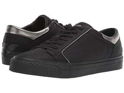 Emporio Armani Simple Leather Classic Sneaker (Black) Men