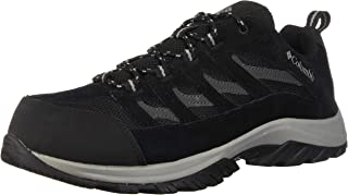 Columbia Men's Crestwood Breathable, High-Traction Grip, Black, Grey, 14 D US