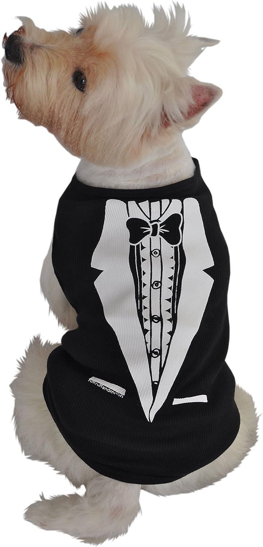 Ruff Ruff and Meow Small Doggie Tank Top, Tuxedo, Black