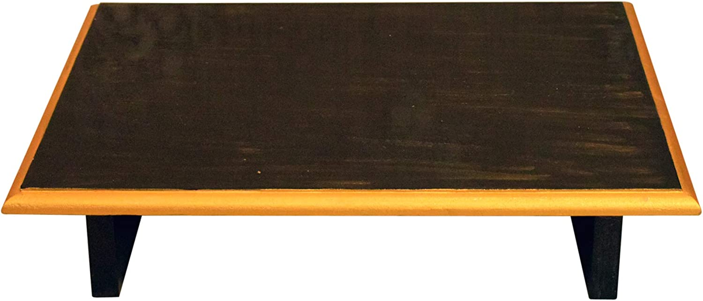 KAANUS Wooden Pooja 流行 Chowki with Art Work 16 12 Diw Inch 日本最大級の品揃え 4 . X