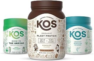 KOS Immunity Community Bundle (Plant-Based Chocolate Protein Powder + Organic Spirulina Powder + Organic Greens Blend)