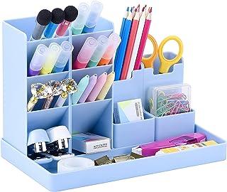 KASTWAVE Vertical Pen Holder, Cute Desk Organizer Pen Holder Stationery, Pencil Storage Caddy Tray for Office Storage Scho...