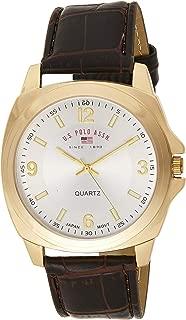 U.S. Polo Assn. Classic Men's US5153 Silver Dial Brown Crocodile Strap Watch