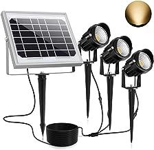 太阳能聚光灯景观户外 3 合 1 LED 灯 IP66 防水 每盏灯具 *照明花园院下灯