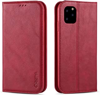 For iPhone 11 Pro Max Retro Texture Magnetic Horizontal Flip PU Leather Case with Holder & Card Slots & Photo Frame New (Black) Hengk (Color : Red)
