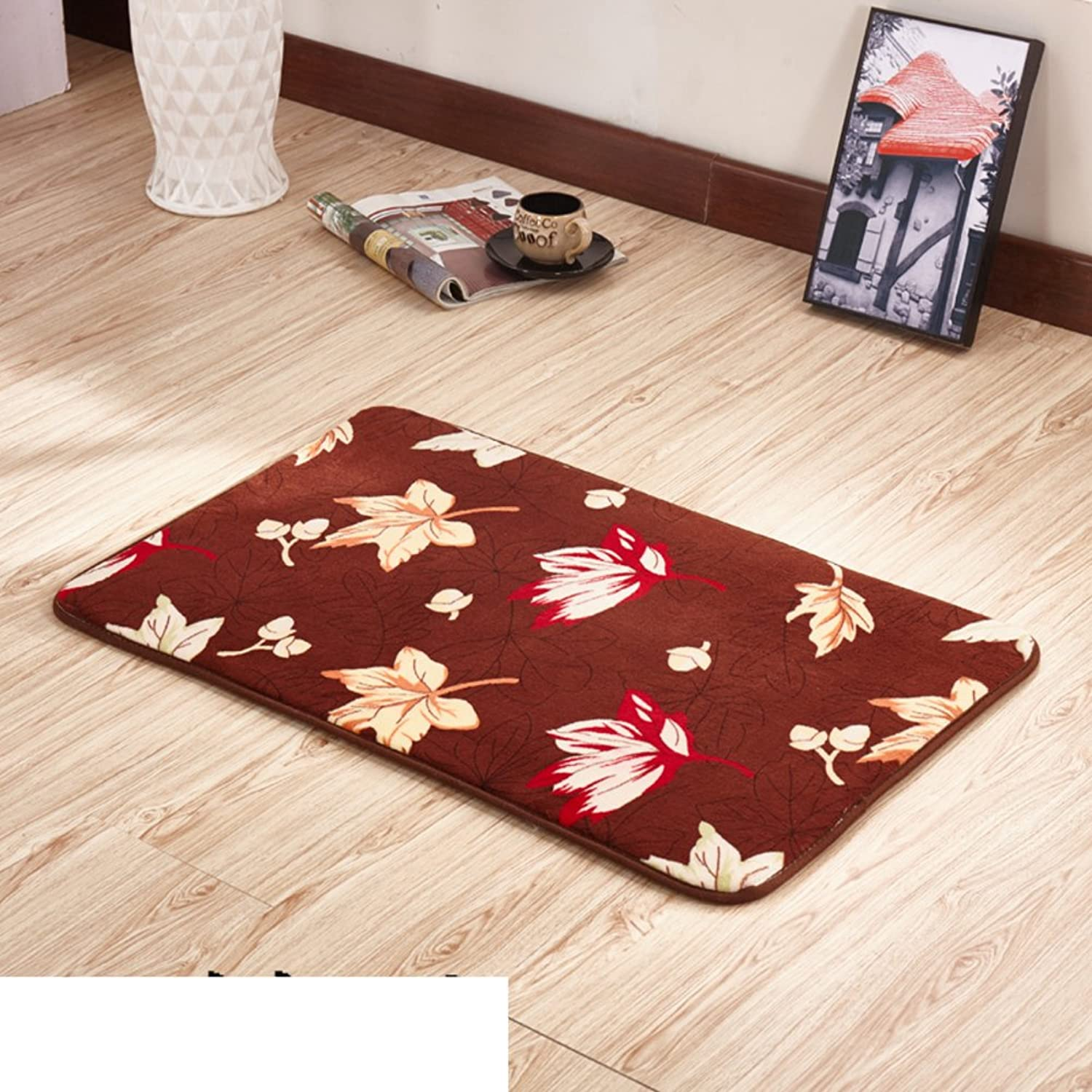Thickened Household Door mats Bedroom Indoor mats Bathroom pratunam pad Kitchen Floor mats-D 100x200cm(39x79inch)
