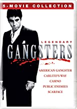 Legendary Gangsters: 5-Movie Collection (American Gangster / Carlito's Way / Casino / Public Enemies / Scarface)
